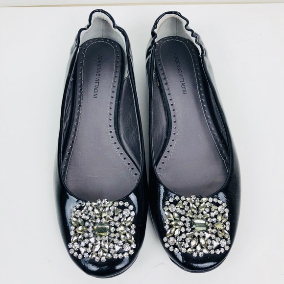 shop online Adrienne Vittadini Crystal Suede Flats clearance authentic discount for nice shopping online high quality outlet best place FJTNafp1